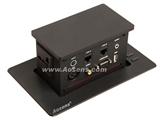 品牌:奥盛 Aosens&#10名称: 电动触摸升降多媒体桌插 台面插座 &#10型号:AS-ZF-D403